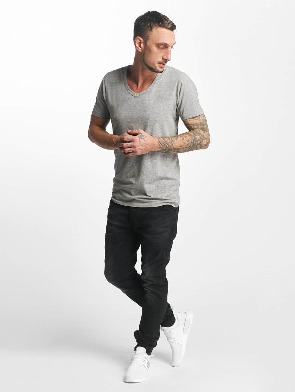 ID Denim Jean coupe droite Skinny Low Rise Tapered Leg noir
