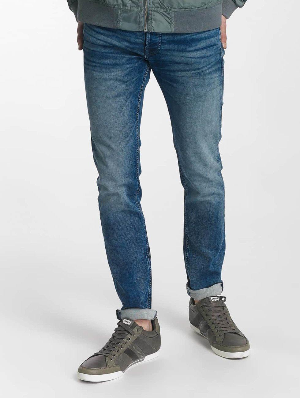 Jack & Jones Slim Fit Jeans jjiGlenn jjOriginal blauw