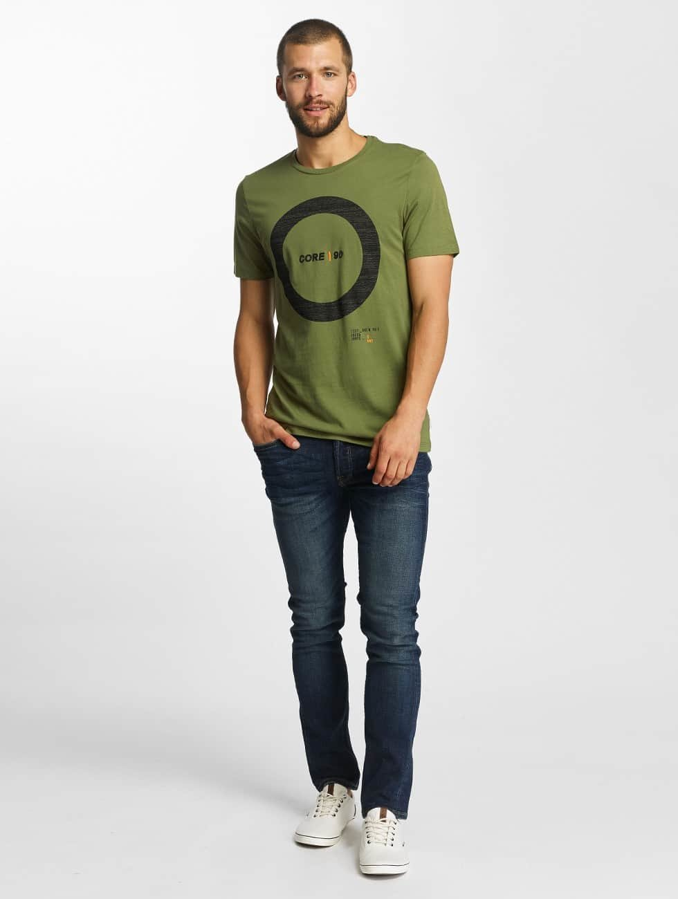 Jack & Jones T-Shirty jcoCharge oliwkowy