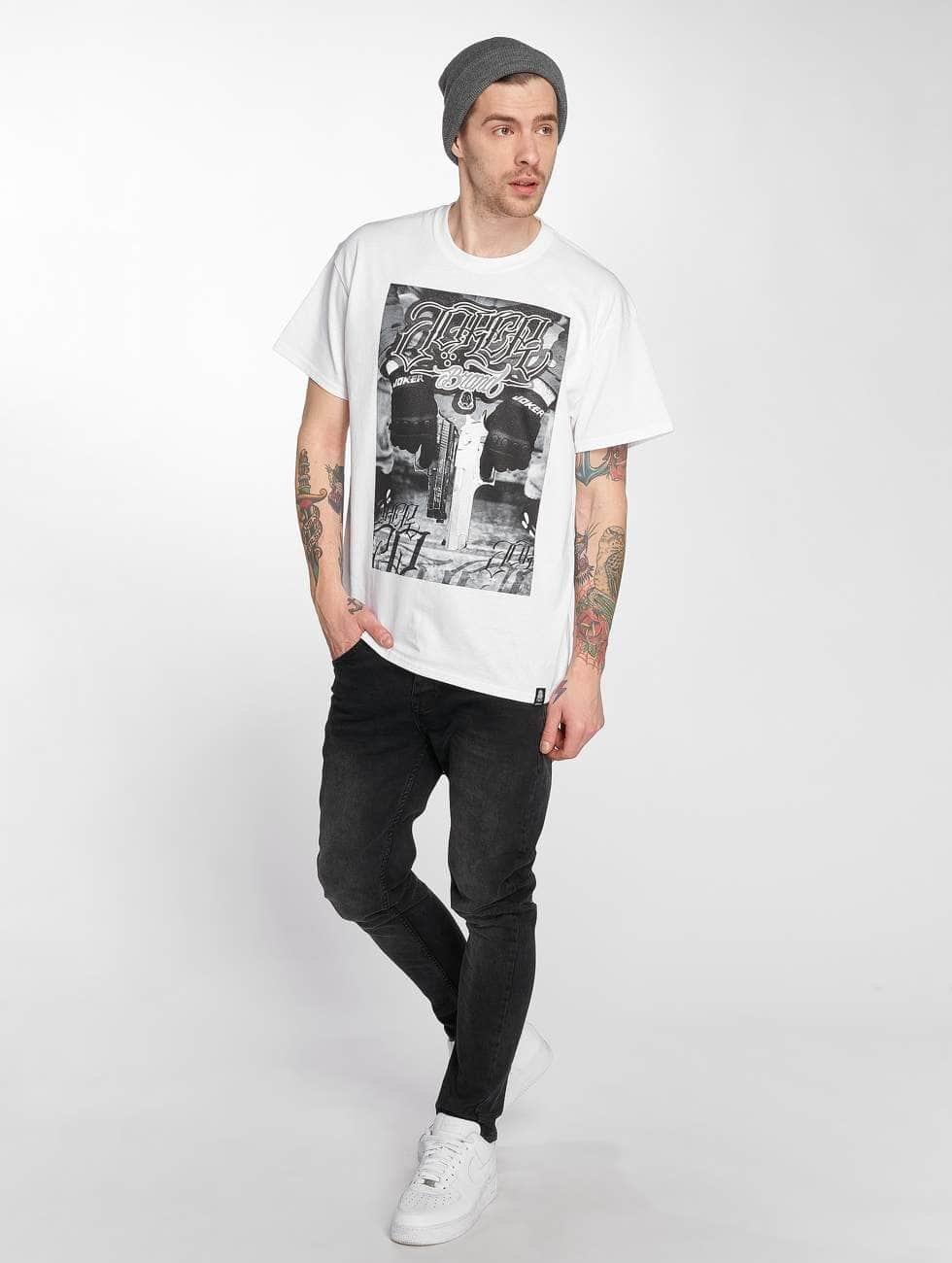 Joker T-shirts Gun hvid