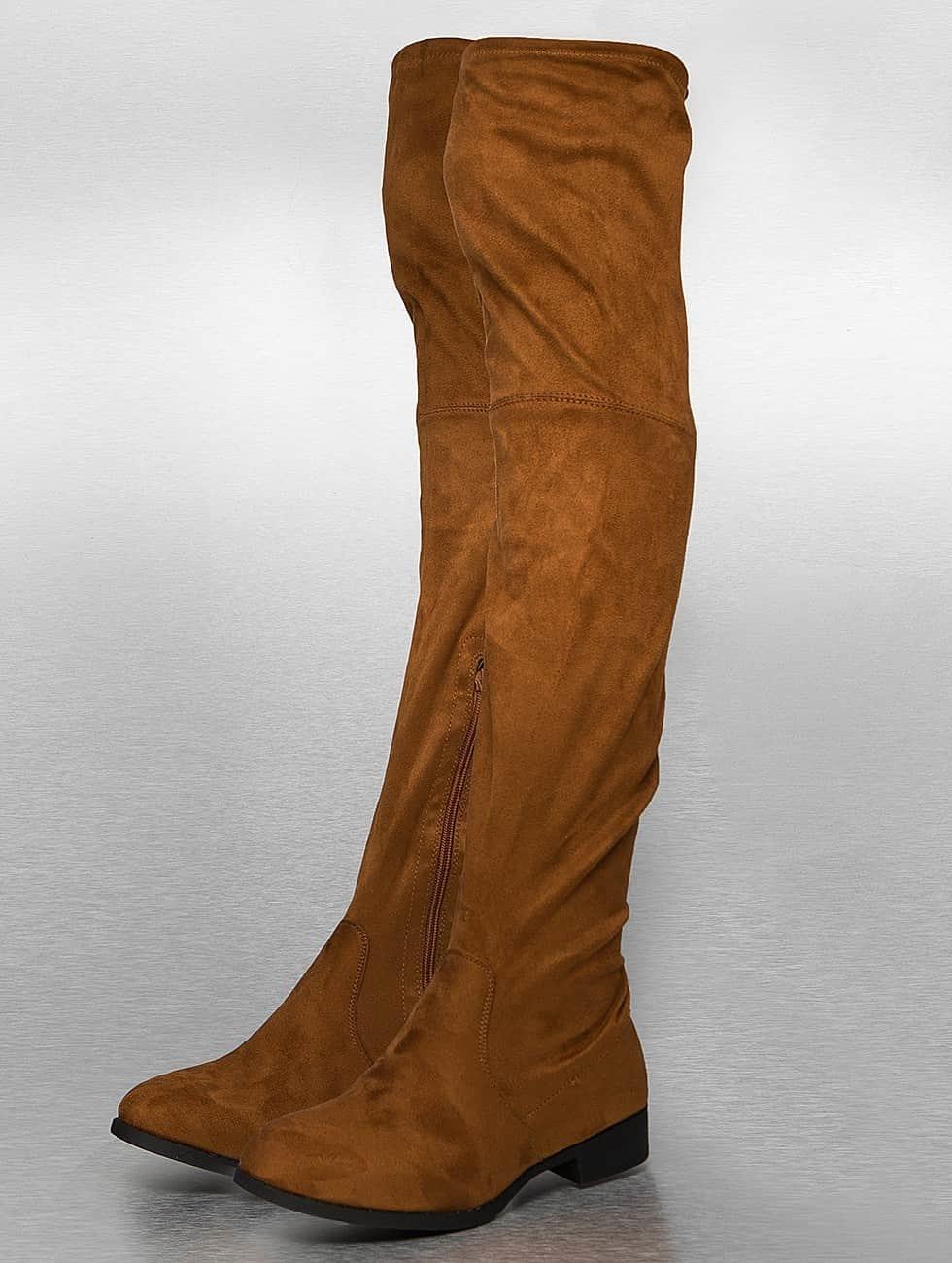 Jumex Bottes Overknees brun