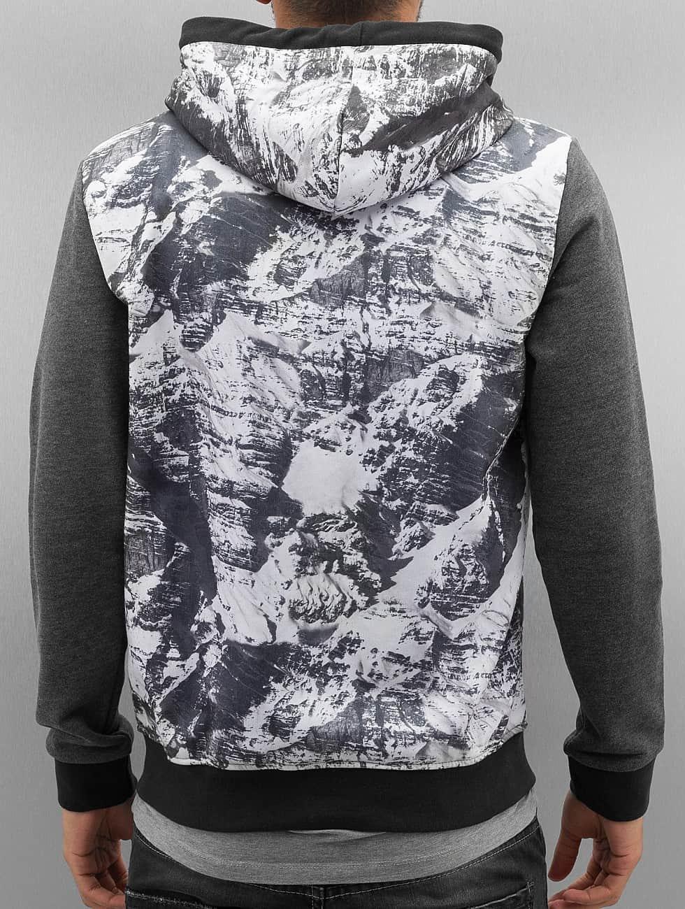 Just Rhyse Zip Hoodie Mountains grå