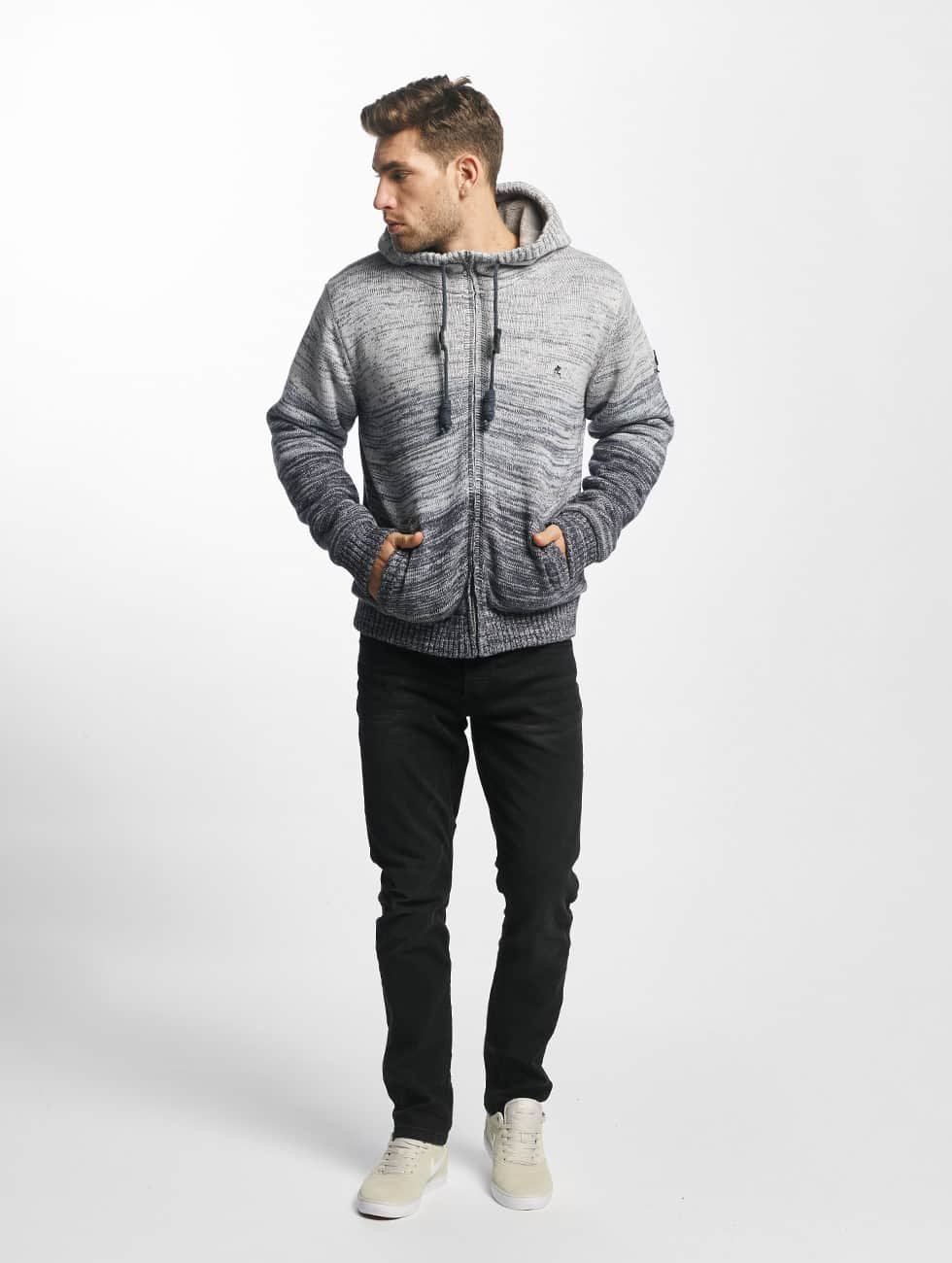 Khujo Lightweight Jacket Prib Knit grey