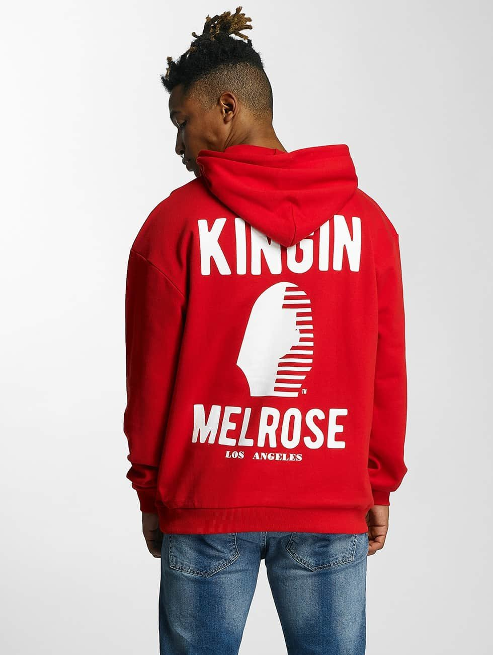 Kingin Sweat capuche Melrose rouge