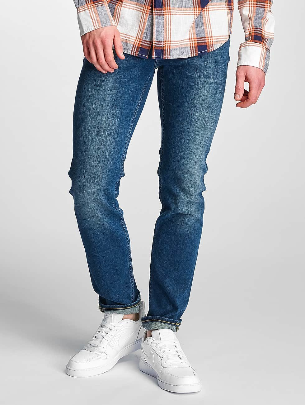 Lee dżinsy przylegające Rider Regular Waist niebieski