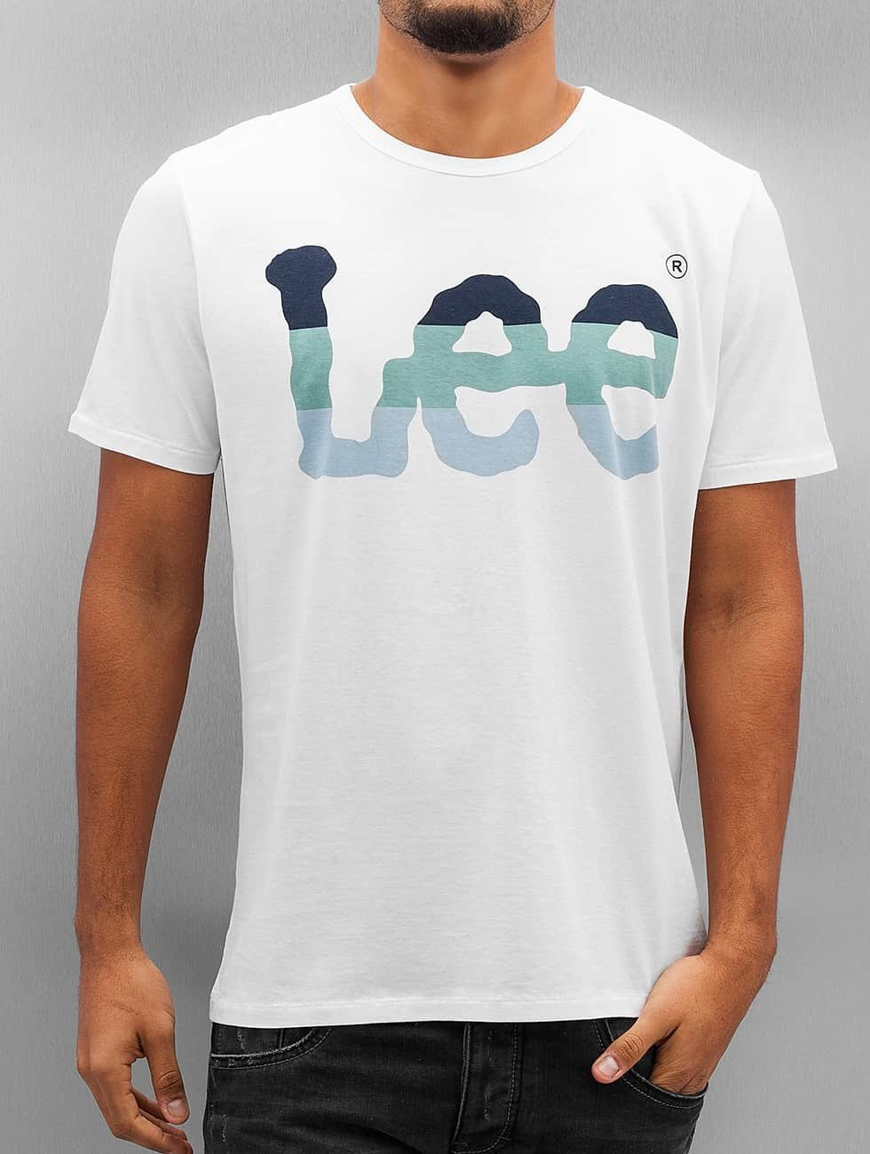 Lee Tričká Seasonal Logo biela