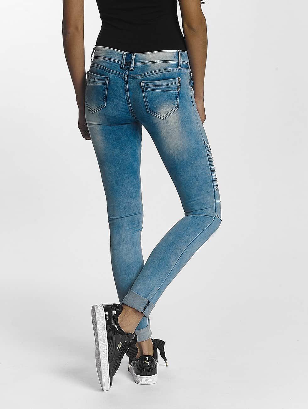 Leg Kings Облегающие джинсы Girl Vivi синий