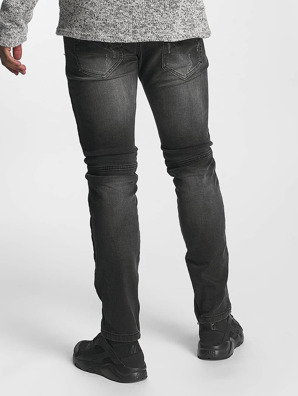 Leg Kings Slim Fit -farkut Guiliano musta