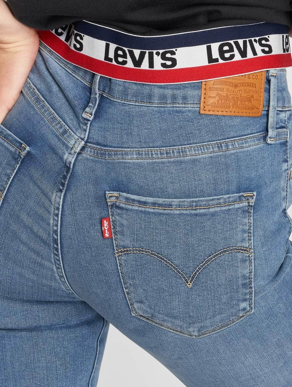 Levi's® Skinny Jeans High Rise niebieski