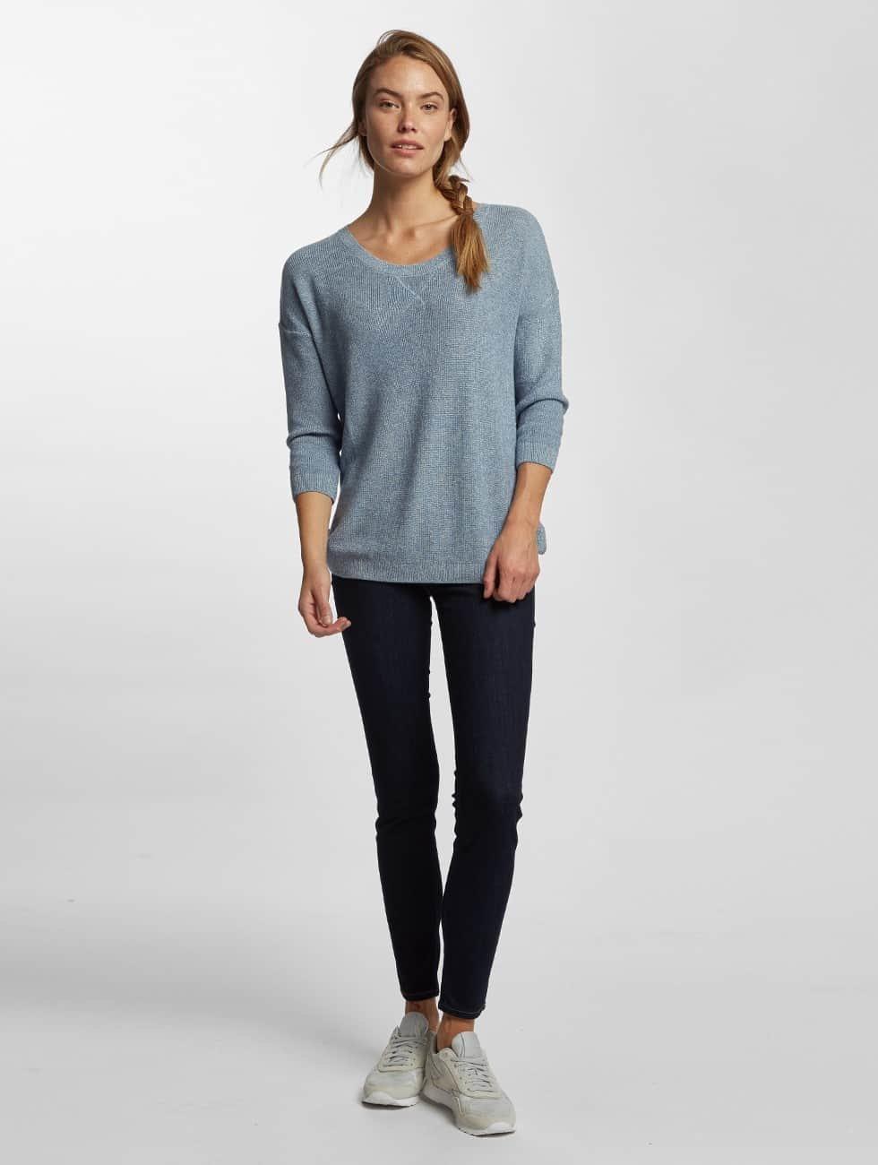 Mavi Jeans Swetry Crew Neck niebieski