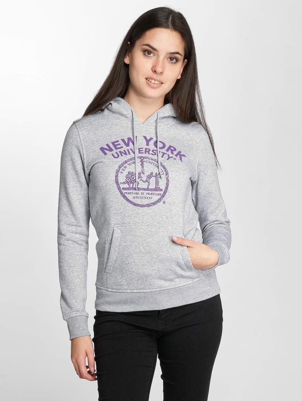 Merchcode Hoodies NYU Purple Logo grå