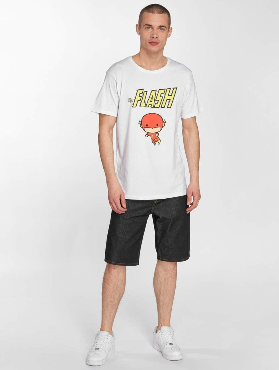 Merchcode T-shirts The Flash Comic hvid