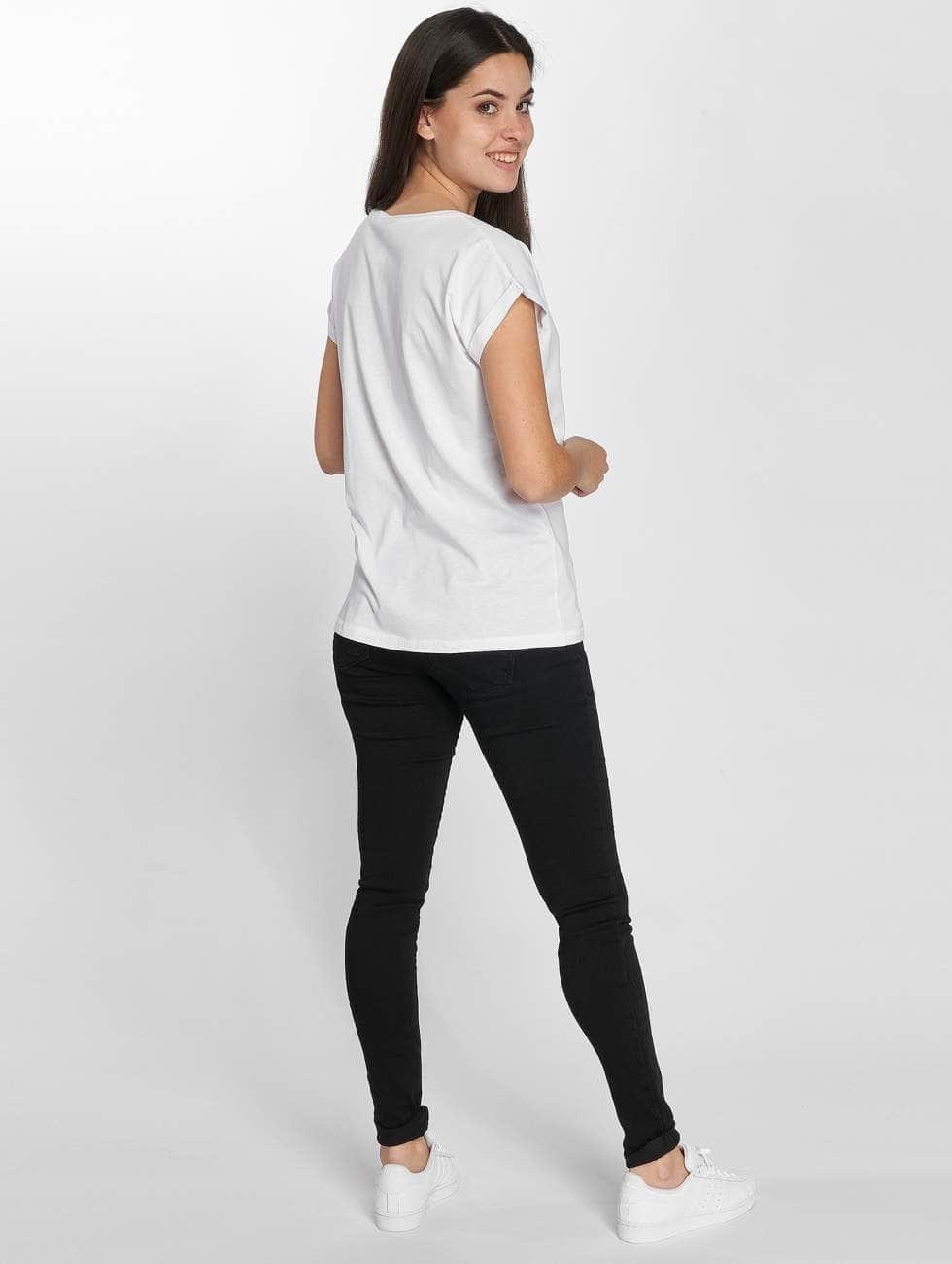 Merchcode T-shirts Betty Boop Red Dress hvid