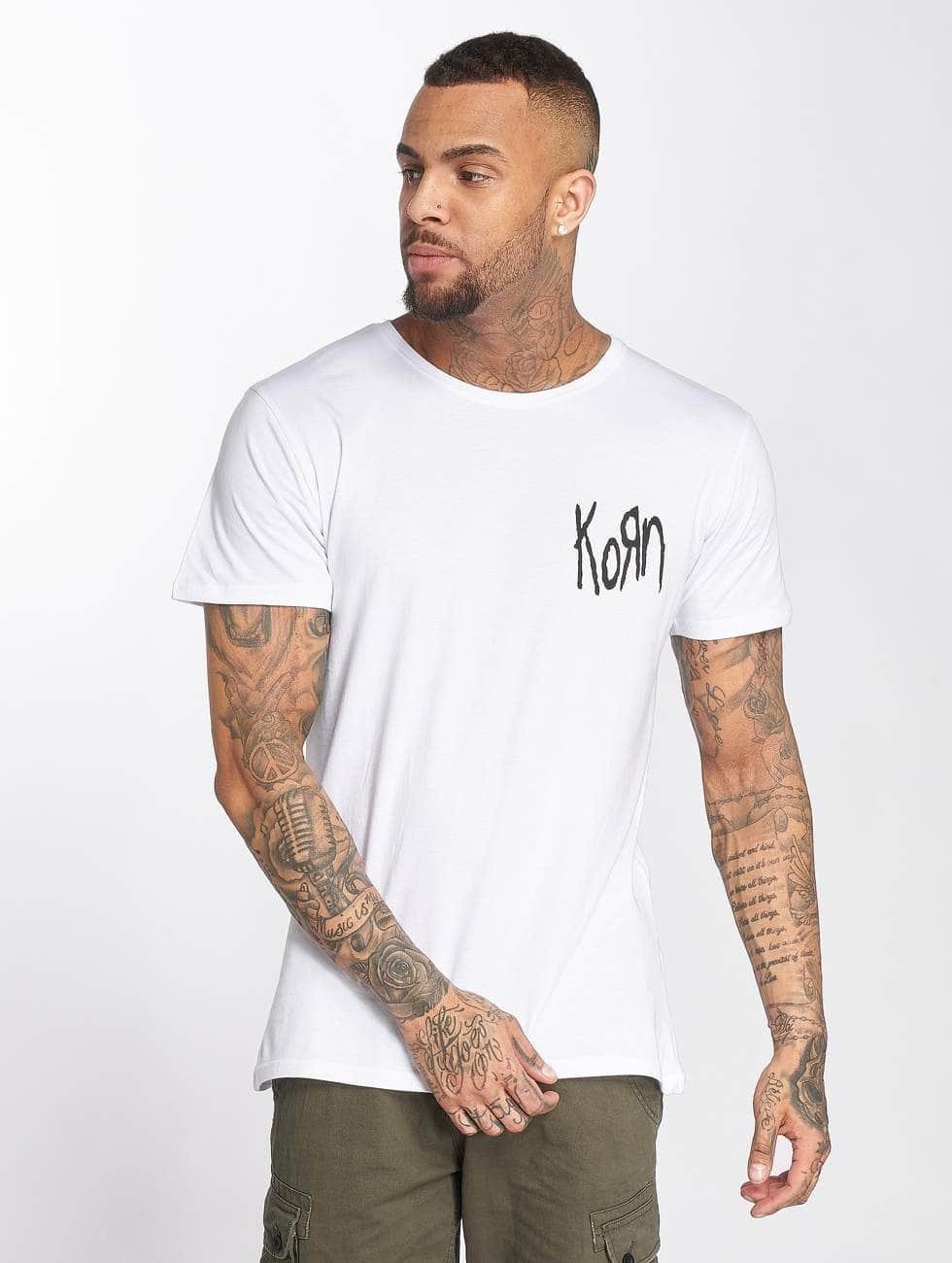Merchcode T-shirts Korn Suffering hvid
