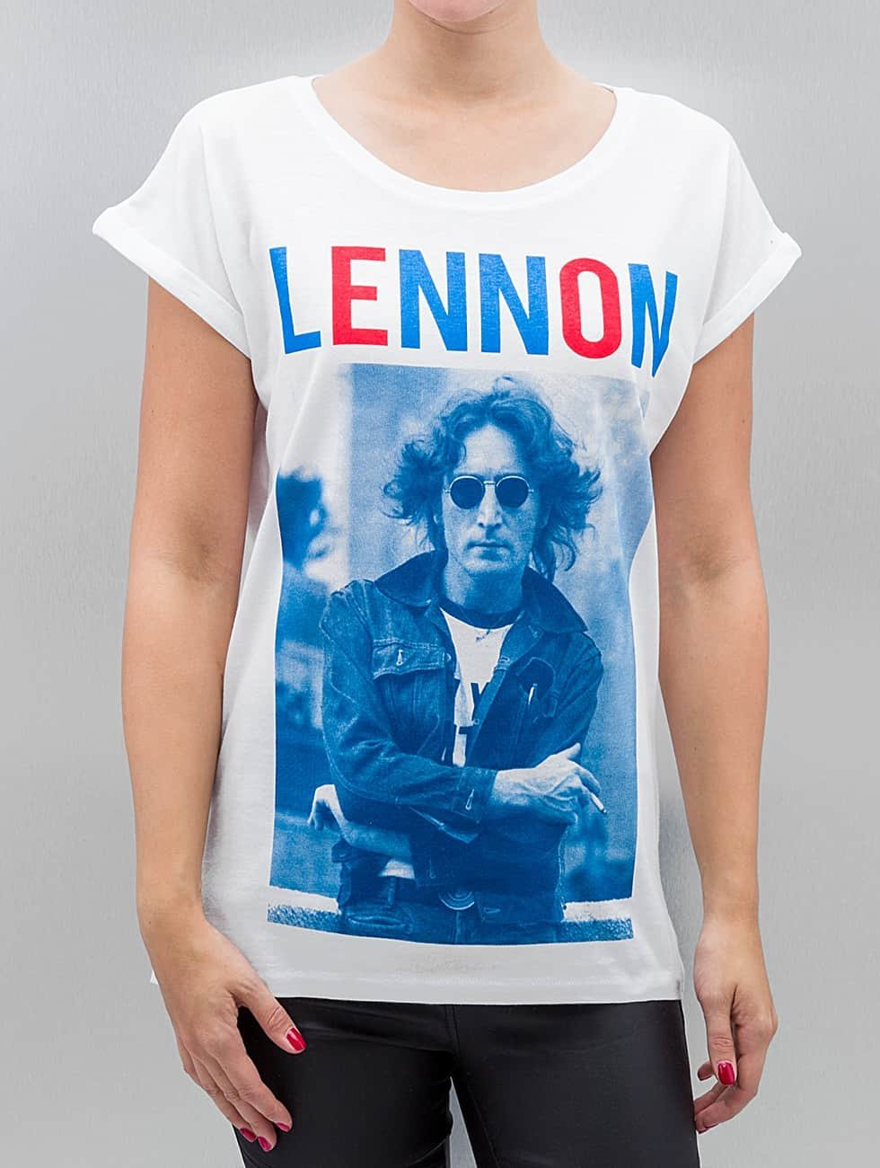 Mister Tee Футболка Ladies John Lennon Bluered белый