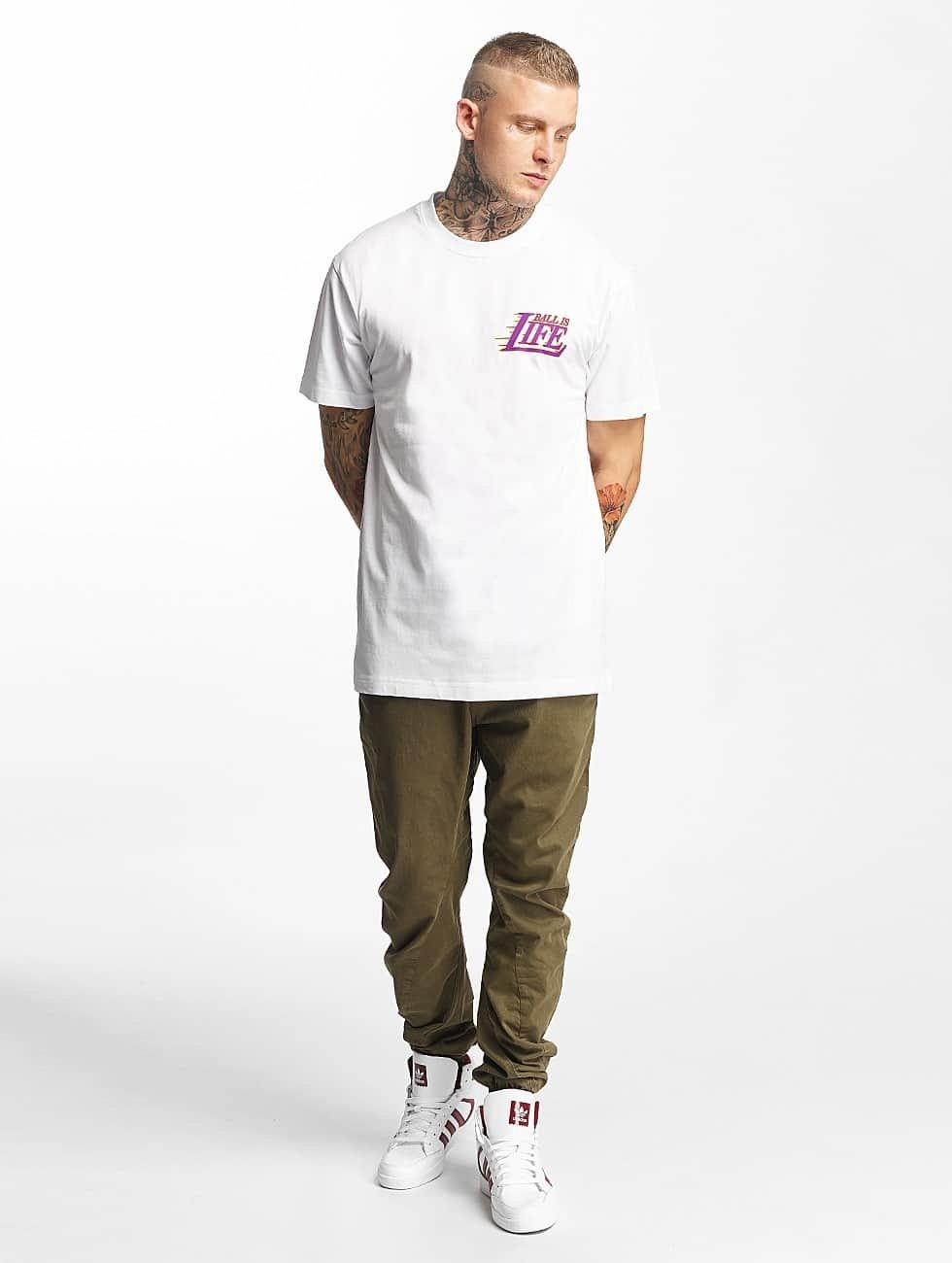 Mister Tee T-Shirt Ball Is Life blanc