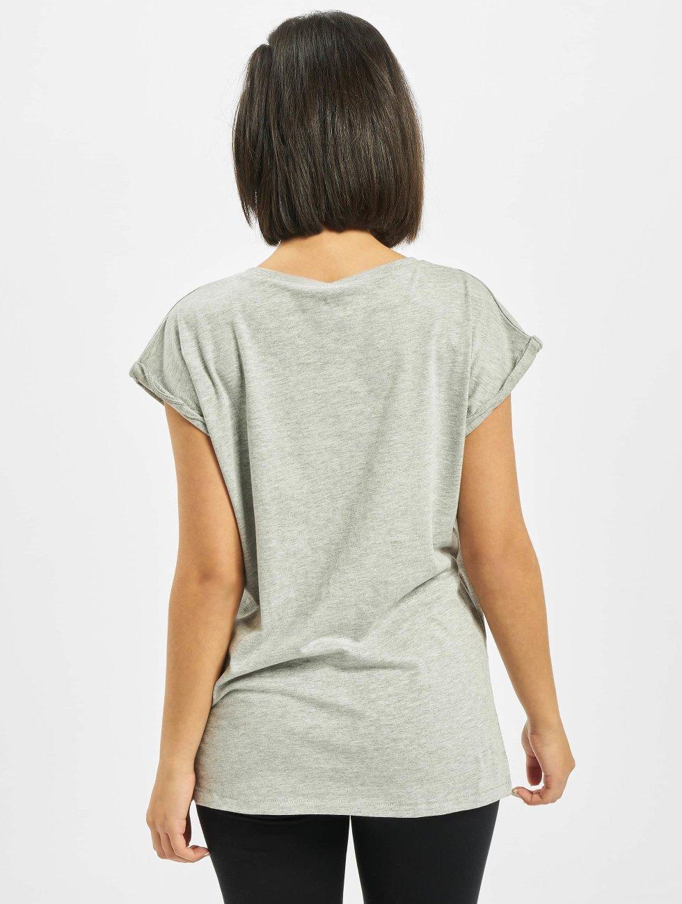 Mister Tee T-Shirt Ladies Five Seconds Of Summer Longprint gray