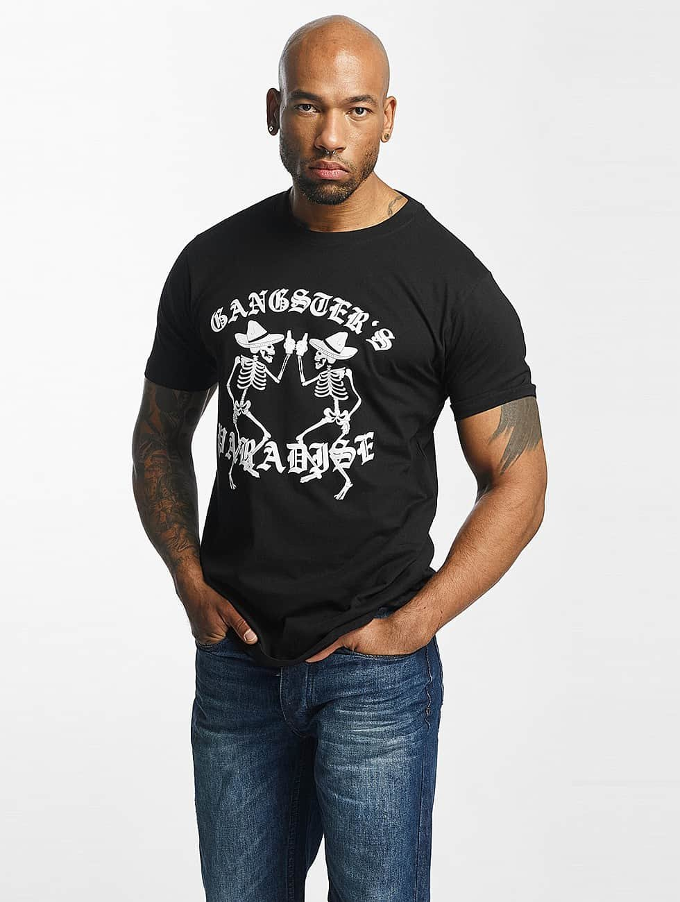 Mister Tee T-shirt Gangster`s Paradise nero
