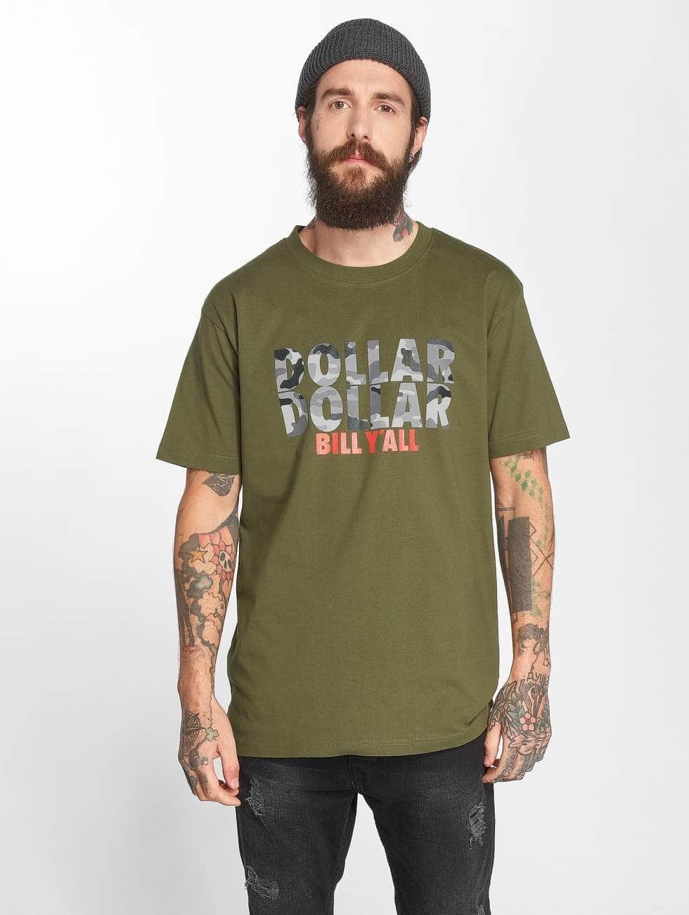 Mister Tee t-shirt Tee Dollar olijfgroen