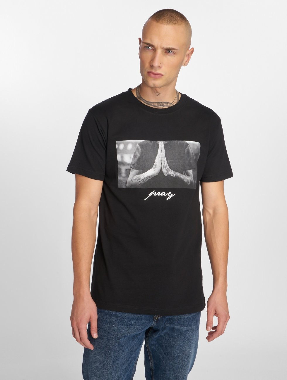 Mister Tee T-Shirt Pray schwarz