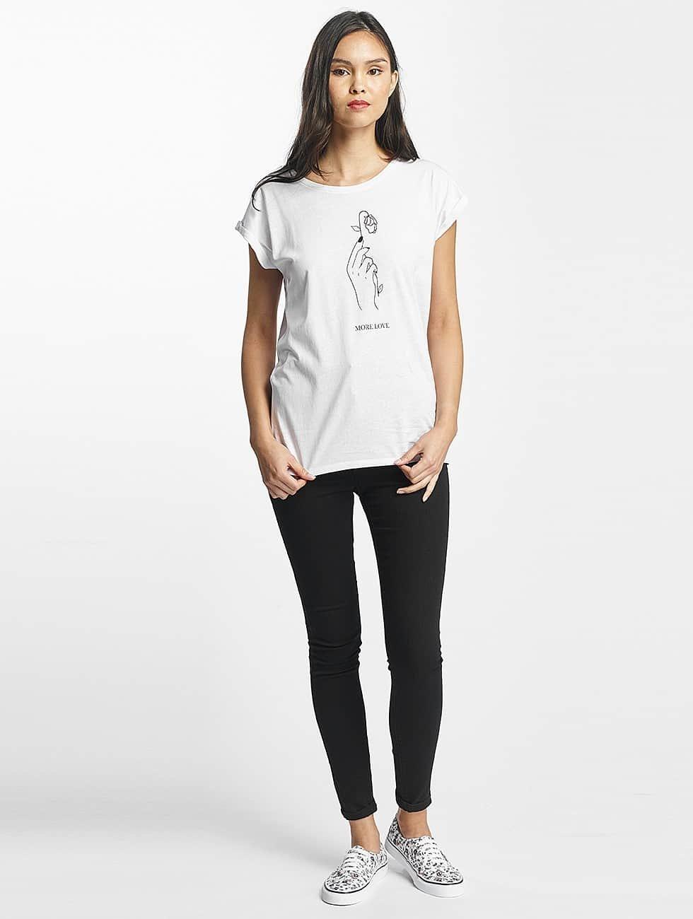 Mister Tee T-Shirt More Love white