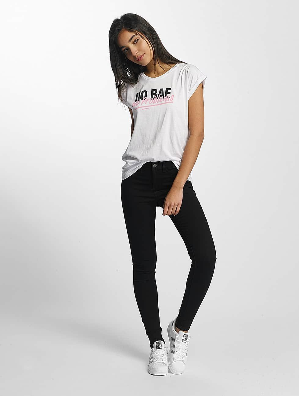 Mister Tee T-Shirt No Bae Problems white