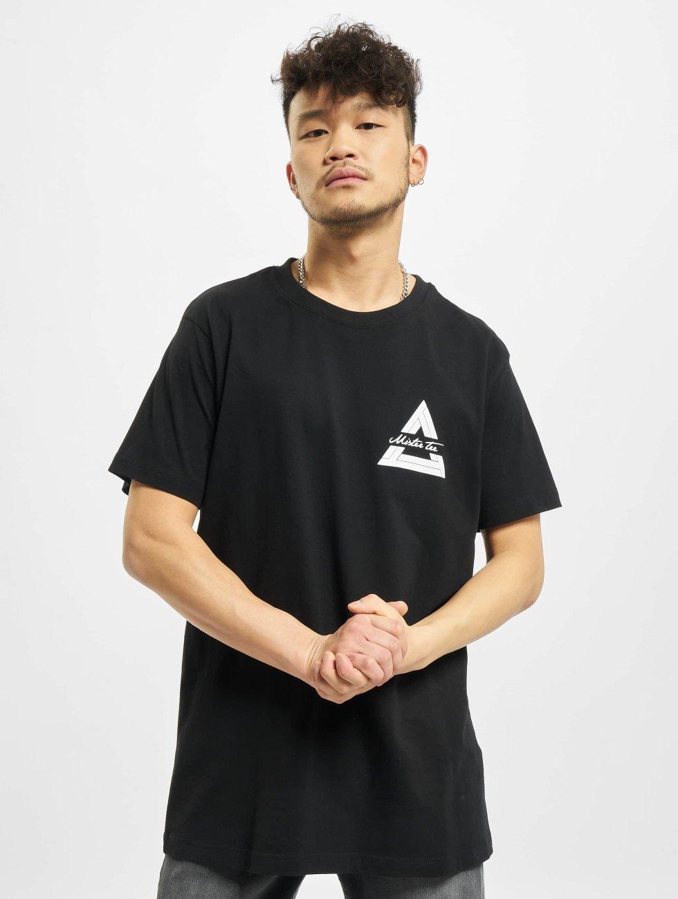Mister Tee t-shirt Triangle zwart