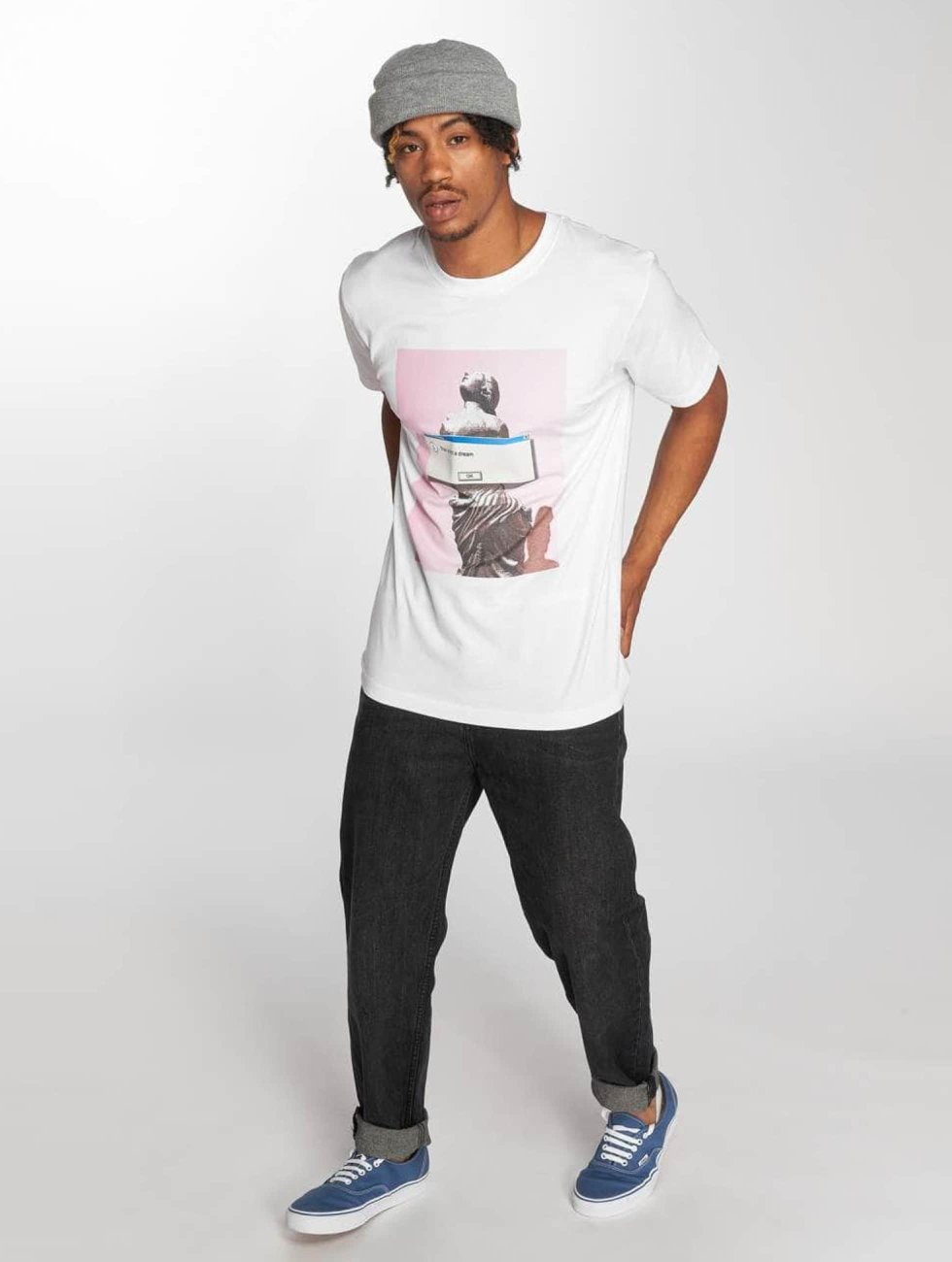 Mister Tee T-Shirty Not A Dream bialy