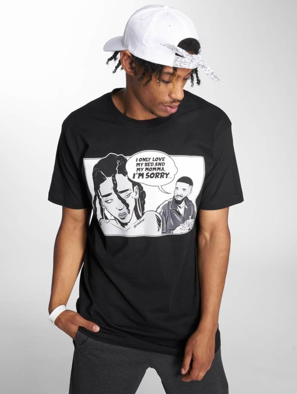 Mister Tee T-Shirty Sorry Tee czarny