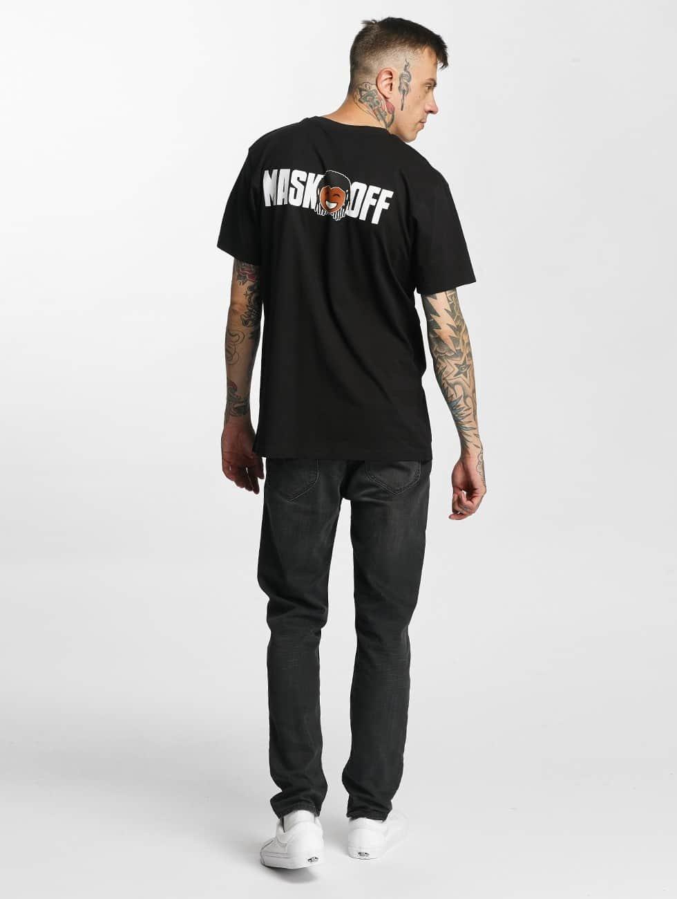 Mister Tee T-skjorter Mask On Mask Off svart