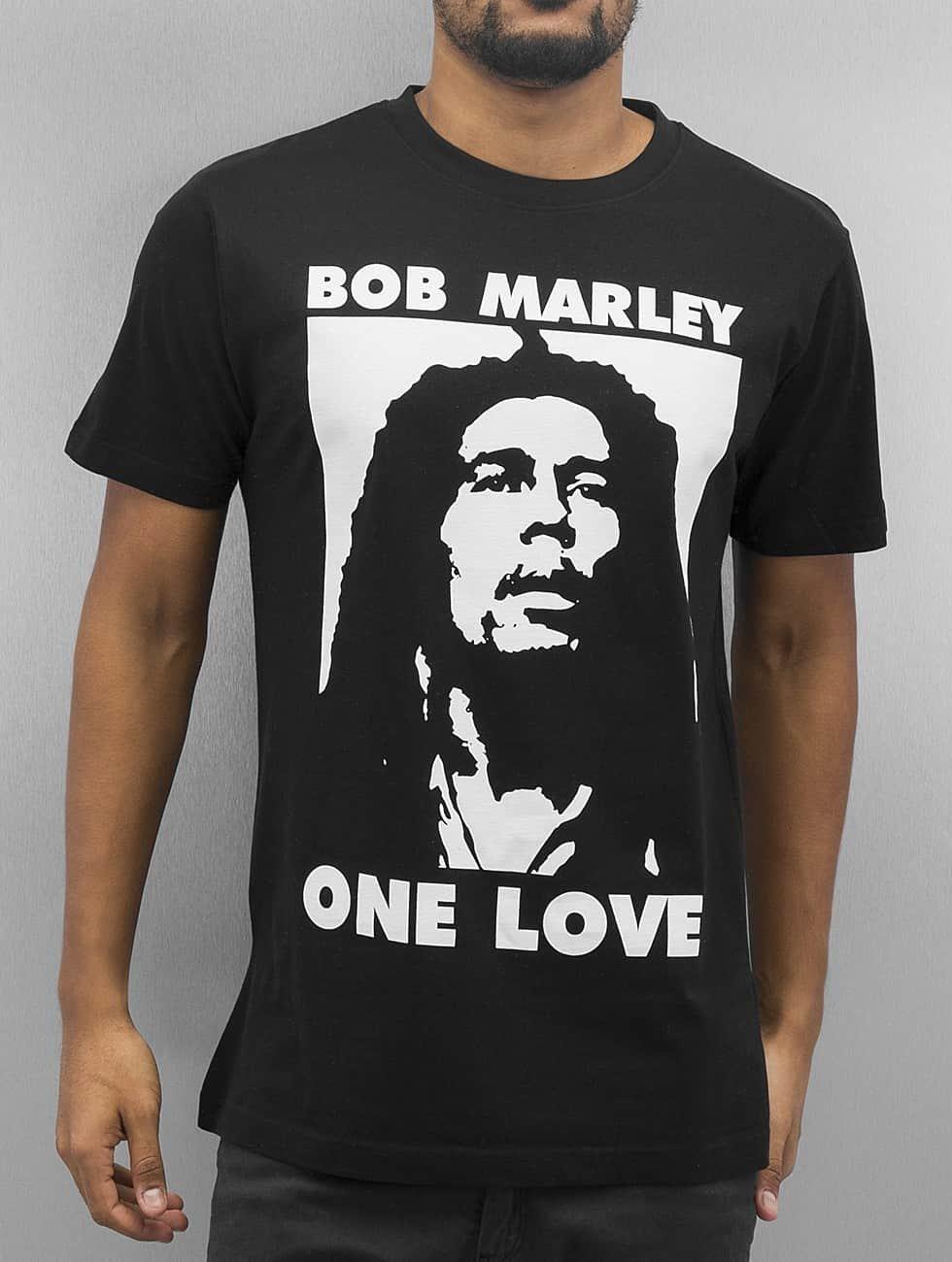 Mister Tee Tričká Bob One Love èierna