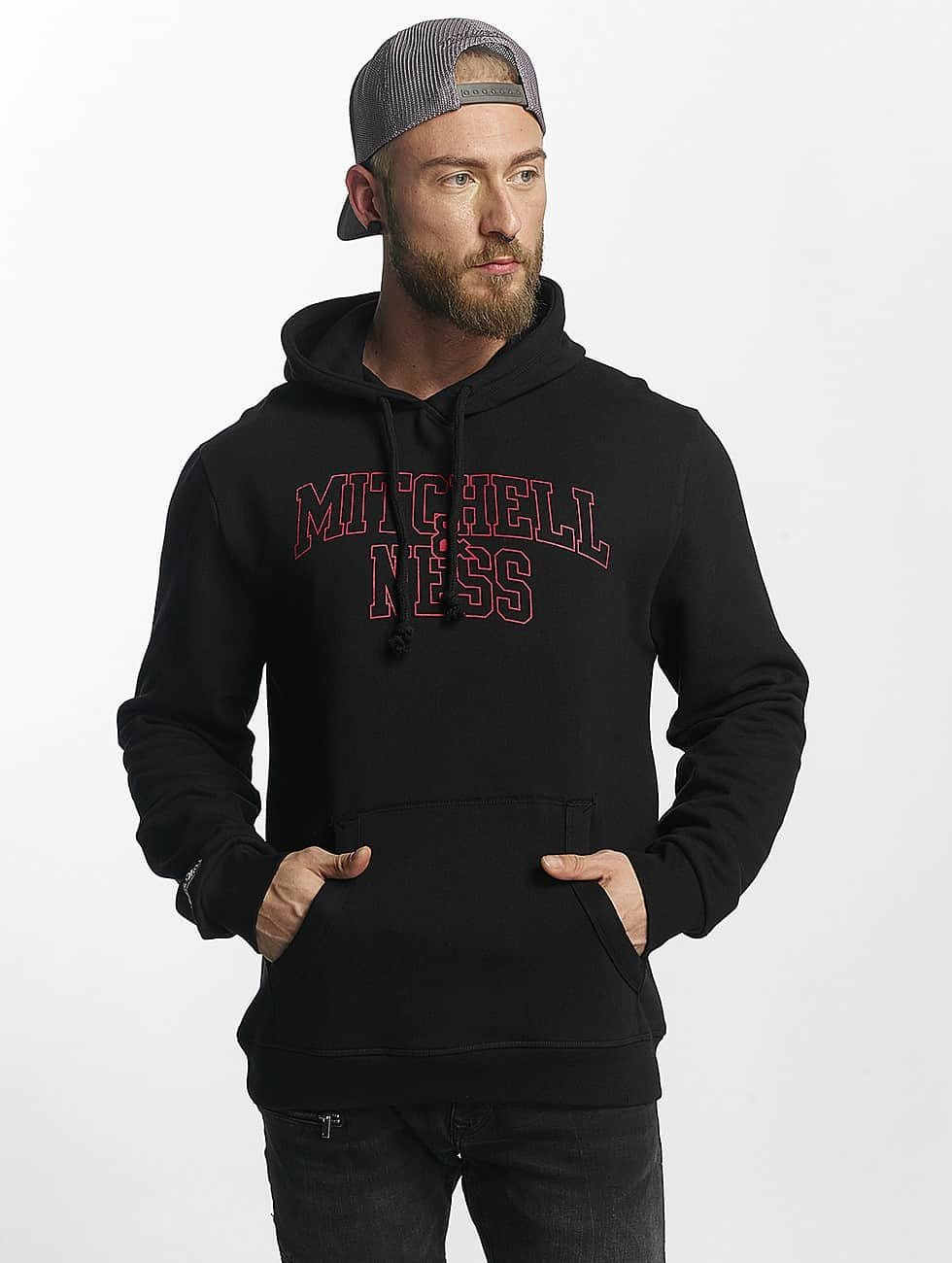 Mitchell & Ness Hoodie Red Pop svart