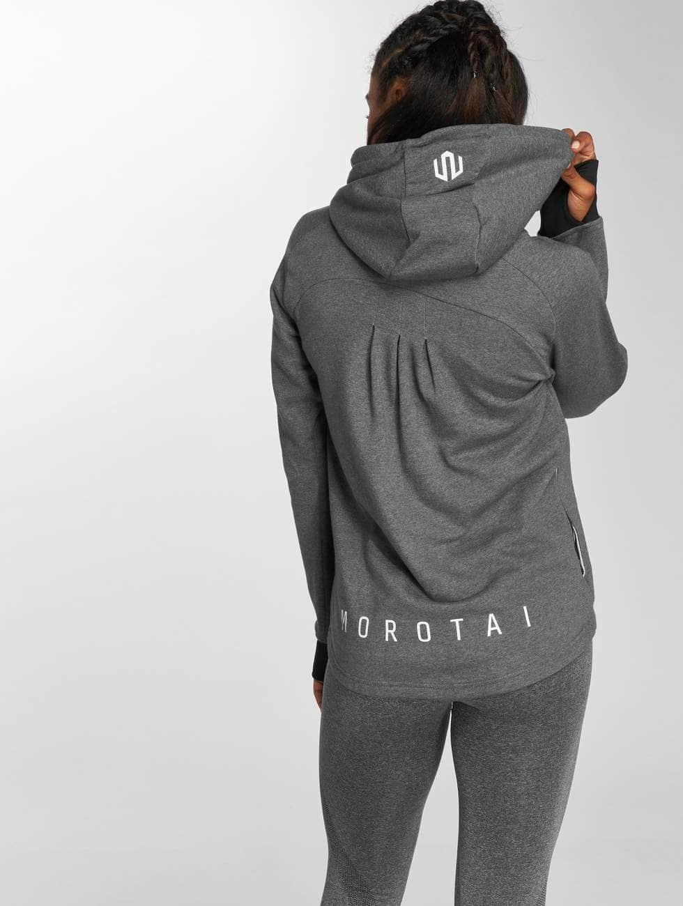 MOROTAI Hoodie Comfy Performance grå