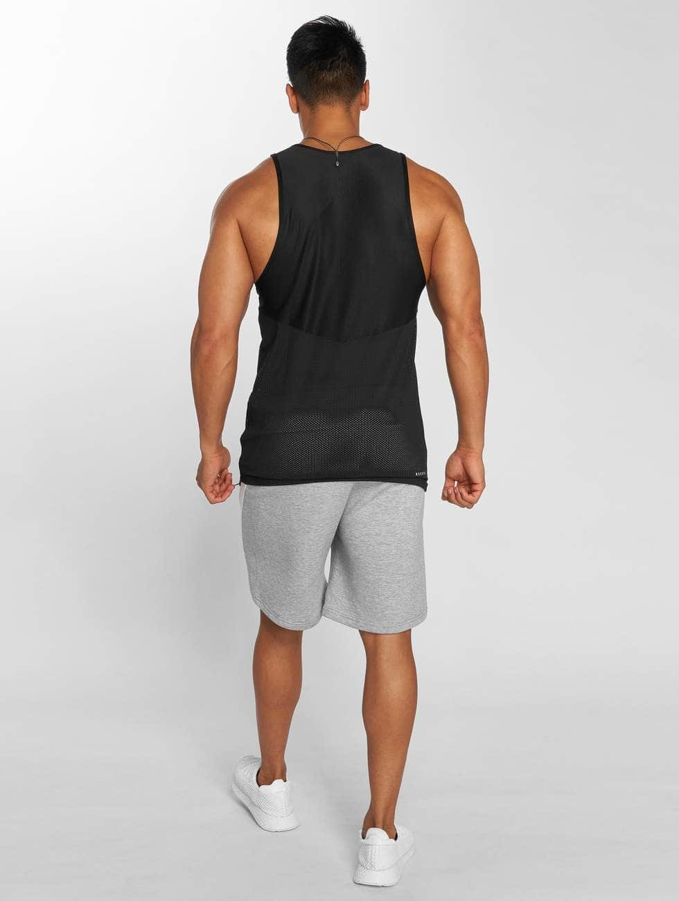 MOROTAI Tank Tops Light Mesh svart