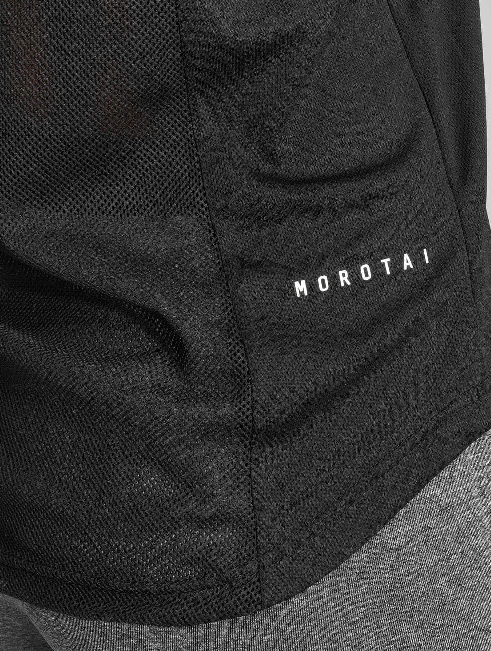 MOROTAI Tank Tops Mesh svart