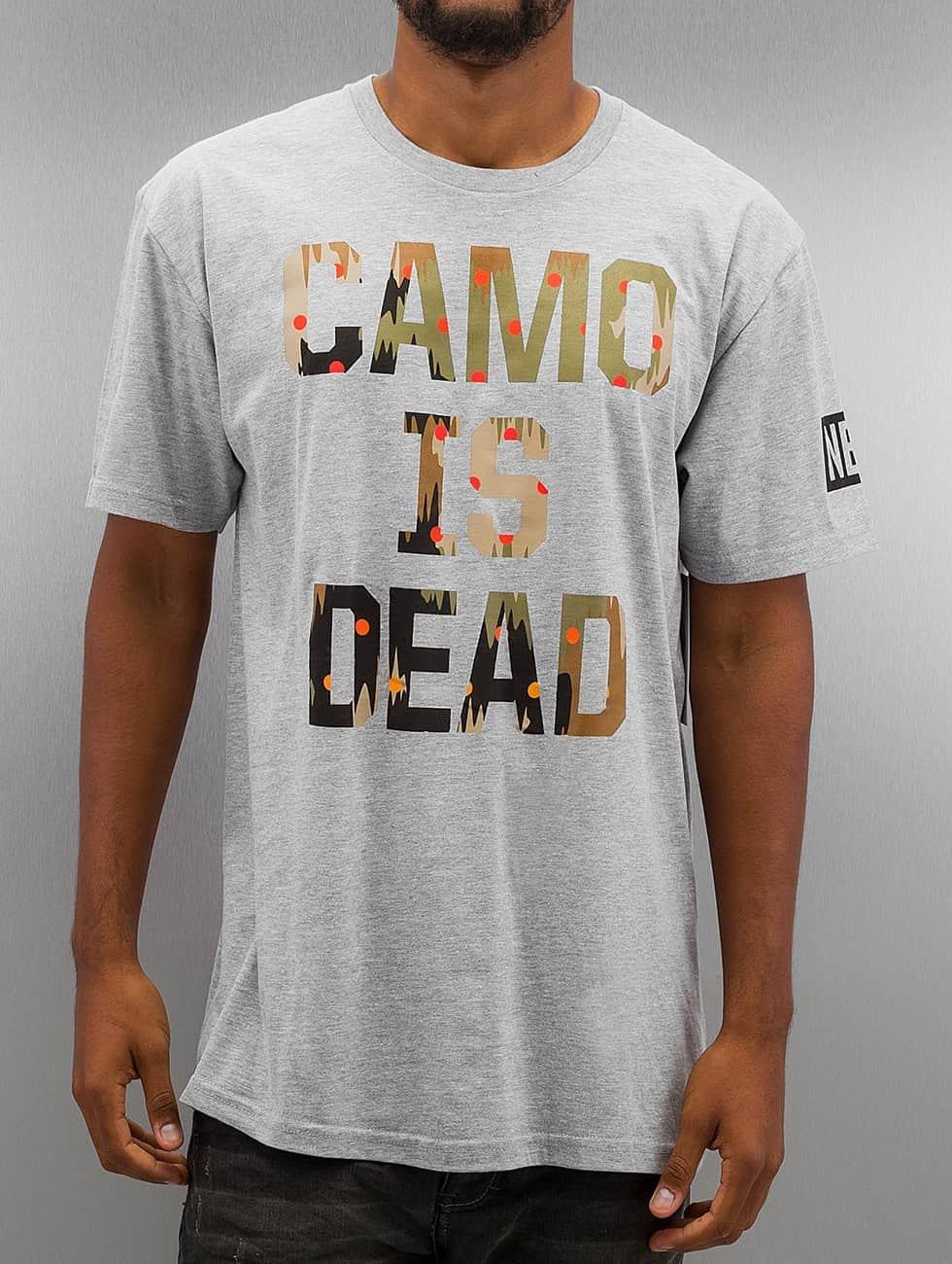 NEFF t-shirt Camo is Dead grijs