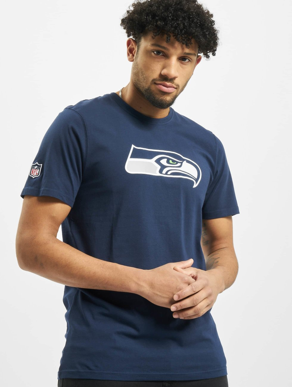 New Era t-shirt Team Logo Seattle Seahawks blauw