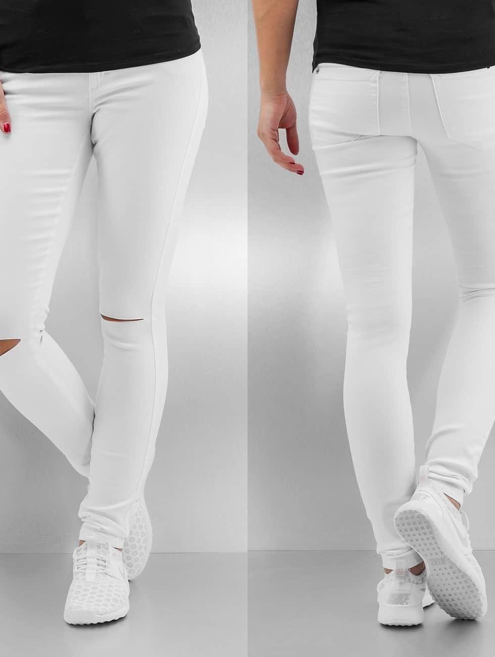 Only Skinny jeans onlRoyal Regular Waist Skinny Kneecut wit