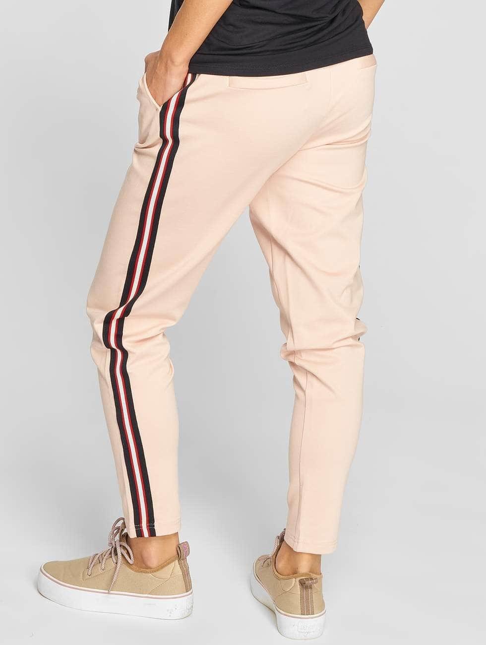 Only Spodnie wizytowe onlPoptrash Stripes rózowy