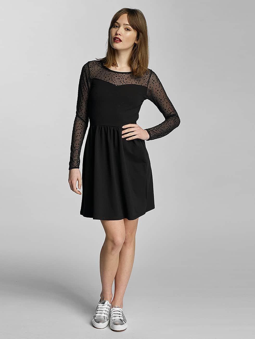 Only Sukienki onlNiella Mesh Star czarny