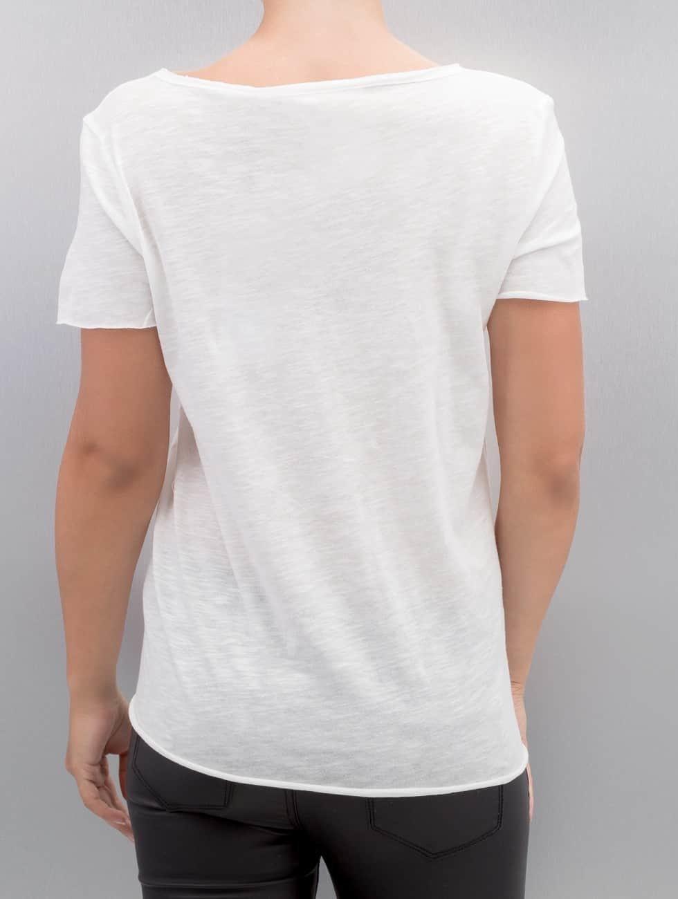 Only T-Shirt onlAugusta Lips/Eyes white
