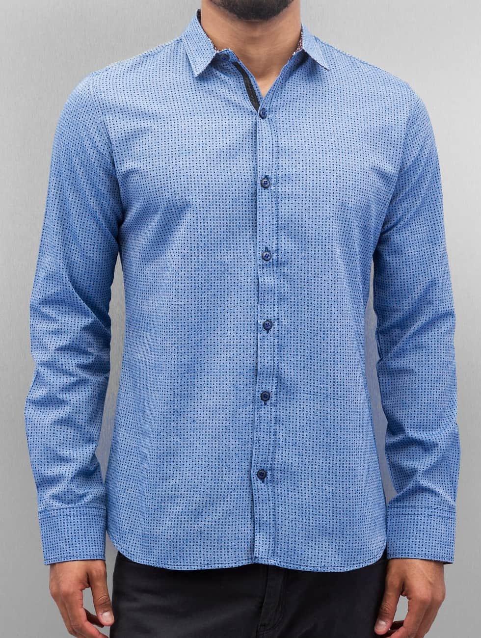 Open Hemd Dots blau