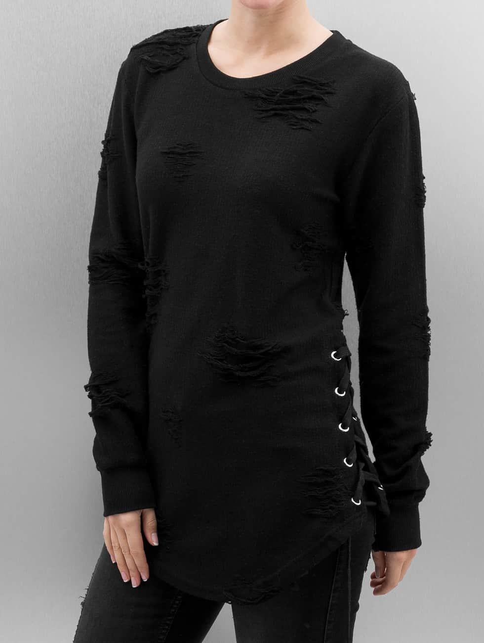 Paris Premium Pullover Destroyed schwarz