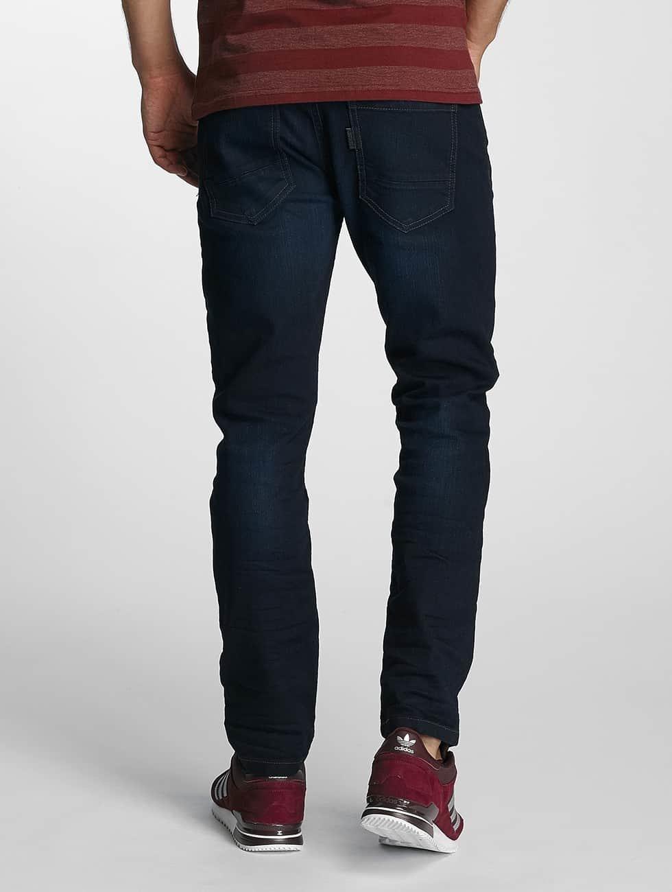 Paris Premium Straight fit jeans Lucifer blauw