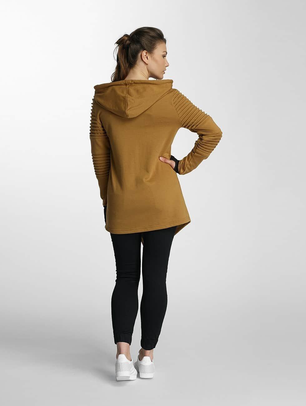 Paris Premium Zip Hoodie Fuck Glamour yellow
