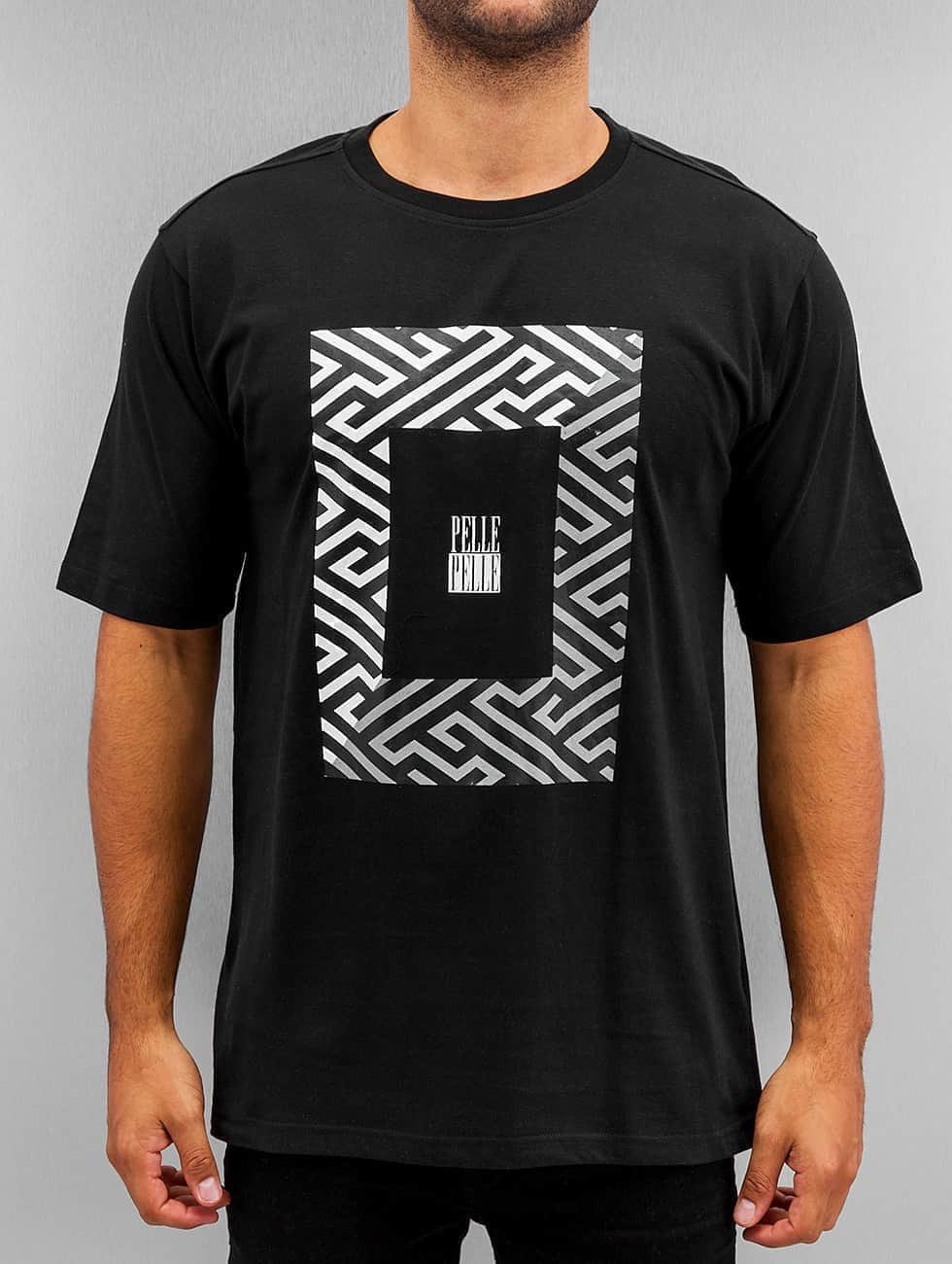 Pelle Pelle T-paidat Dark Maze musta