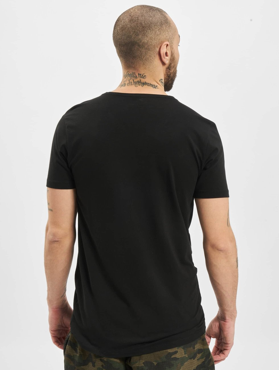 Petrol Industries T-Shirt Bodyfit Basic 2 Pack schwarz