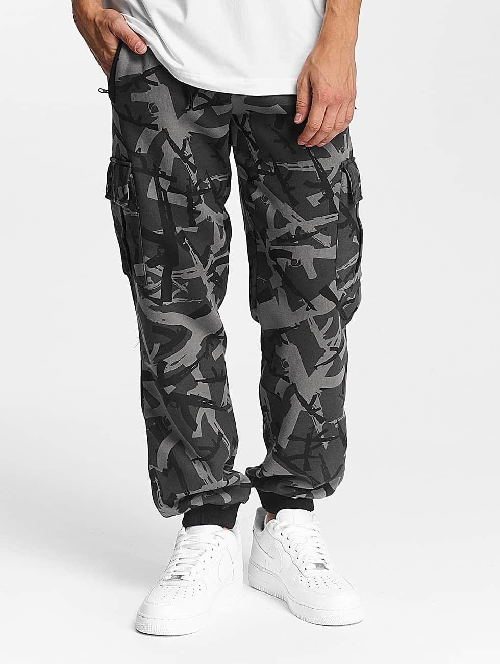 Pusher Apparel Spodnie do joggingu AK Camo moro