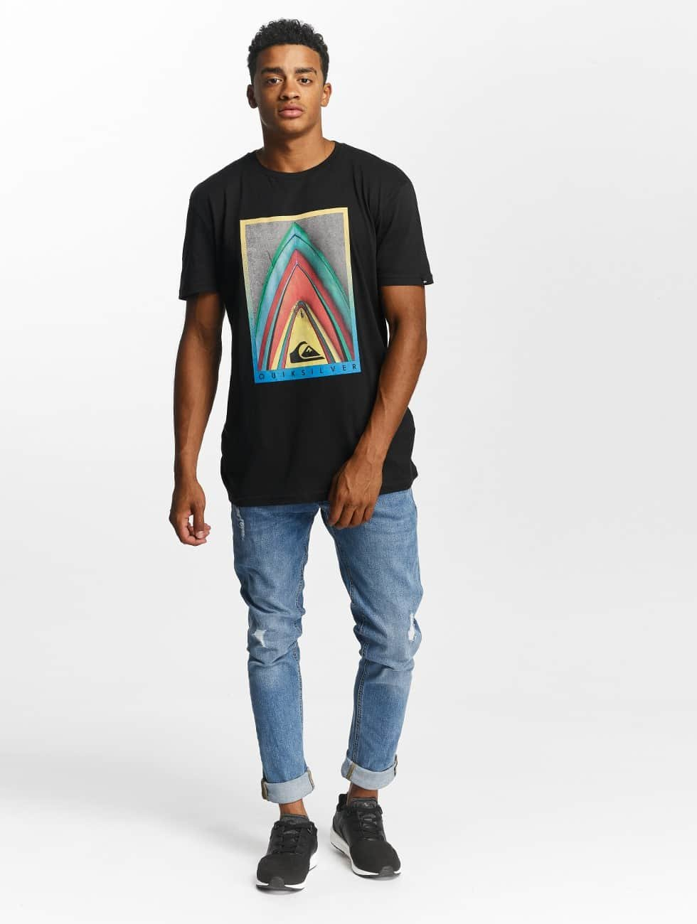 Quiksilver T-shirt Premium East Stacked nero