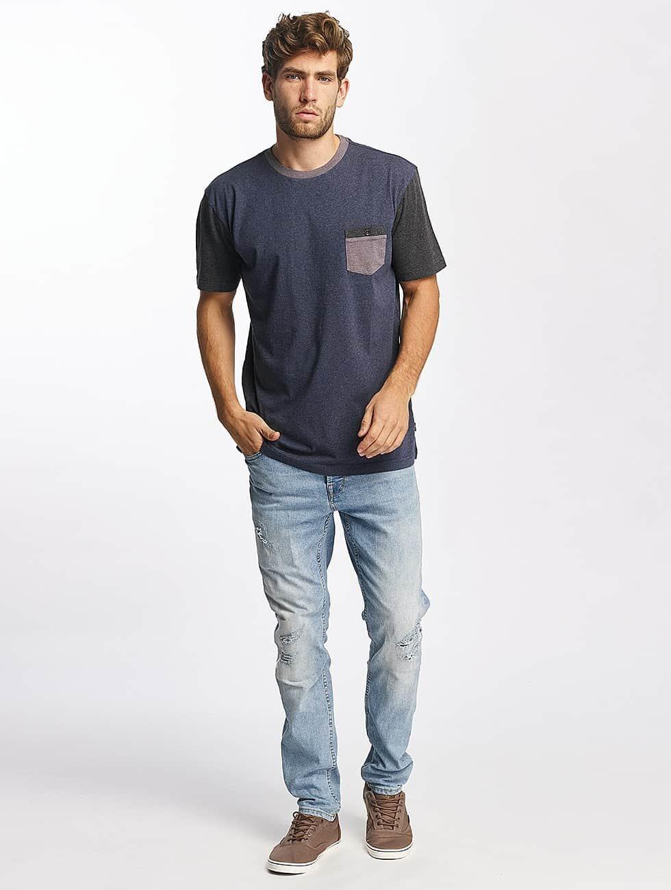 Quiksilver T-Shirty Baysic Pocket niebieski